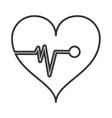 heart cardiogram icon vector image vector image