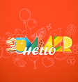 Hello summer vacation concept Colorful letters on vector image vector image