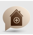 Hospital sign Brown gradient icon on vector image vector image