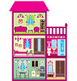 House for the girl in a cut vector | Price: 3 Credits (USD $3)