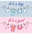 It is a boy and it is a girl announcement vector image vector image