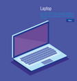 laptop computer isometrics icons vector image