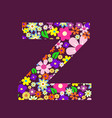 letter of beautiful flowers z vector image