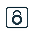 lock icon Rounded squares button vector image vector image