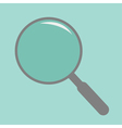 Magnifier empty Flat design style vector image