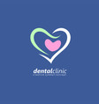 medical logo designed for dental clinic vector image vector image