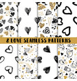 modern set of cute seamless patterns vector image