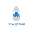 new group concept design with chicken egg vector image