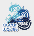 ocean waves with nice shapes design vector image vector image