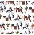 office workers going crazy on coffee break vector image vector image