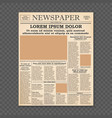 old newspaper front page vector image vector image