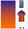 orange geometry abstract background fabric pattern vector image vector image