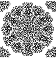 Ornate vintage black lacy seamless pattern vector image vector image