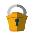 padlock lock security money flat icon vector image