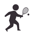 player man tennis vector image vector image