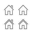 property line icon editable stroke vector image