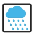 Rain Cloud Framed Icon vector image