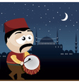 ramadan drummer vector image vector image
