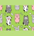 seamless cartoon childrens pattern vector image