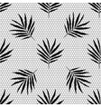 seamless lace fabric pattern black mesh vector image