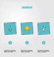 set of country icons flat style symbols with vector image vector image