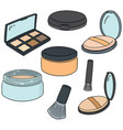 set of face powder vector image