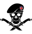 sign of special forces of great britain vector image vector image