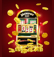 slot machine poster vector image