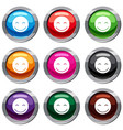 smiling emotset 9 collection vector image vector image