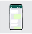 social app template mobile chat ui green