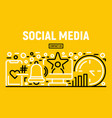social media banner outline style vector image vector image