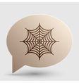 Spider on web Brown gradient icon on vector image vector image