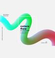 stylish fluid liquid flue gradient background vector image