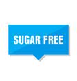 sugar free price tag vector image