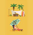 summer beach cocktail bar concept vector image