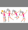 tennis player young and healthy players vector image vector image