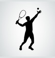 tennis serve tennis player black vector image vector image