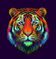 tiger abstract multi-colored vector image vector image