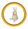 Toy bunny icon vector image