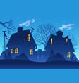 village night silhouette vector image