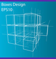 Wireframe boxes eps10