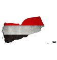 Yemen map with flag inside vector image vector image