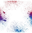Colorful blue purple and red grungy paint vector image