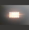 flash light lens flare transparent explosion vector image