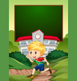a south african boy on school banner vector image