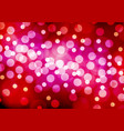 abstract white yellow bokeh red pink night vector image vector image