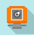action camera icon flat style vector image vector image