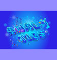 analytics isometric 3d word creative letters vector image