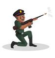 army man cartoon vector image