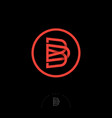 b d monogram circle web user interface icon vector image